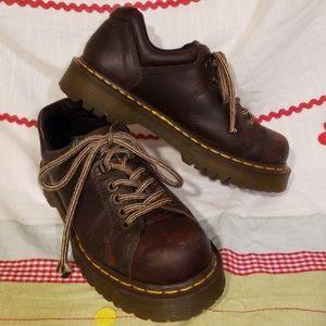 Vintage Doc Martens Retro Chunky Brown Oxford sz 8